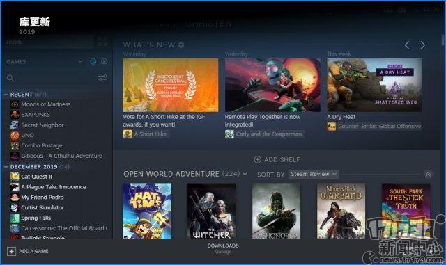 Steam发布2019年回顾玩家总游戏时长超过200亿小时