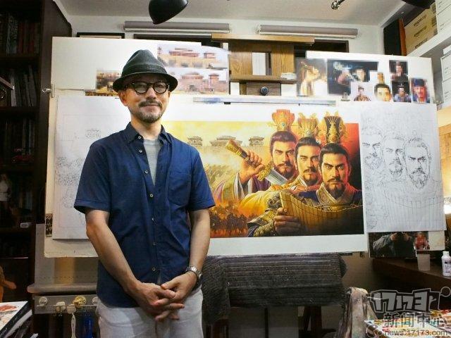 图2:长野刚先生与自己亲手绘制的贺图合影.jpg