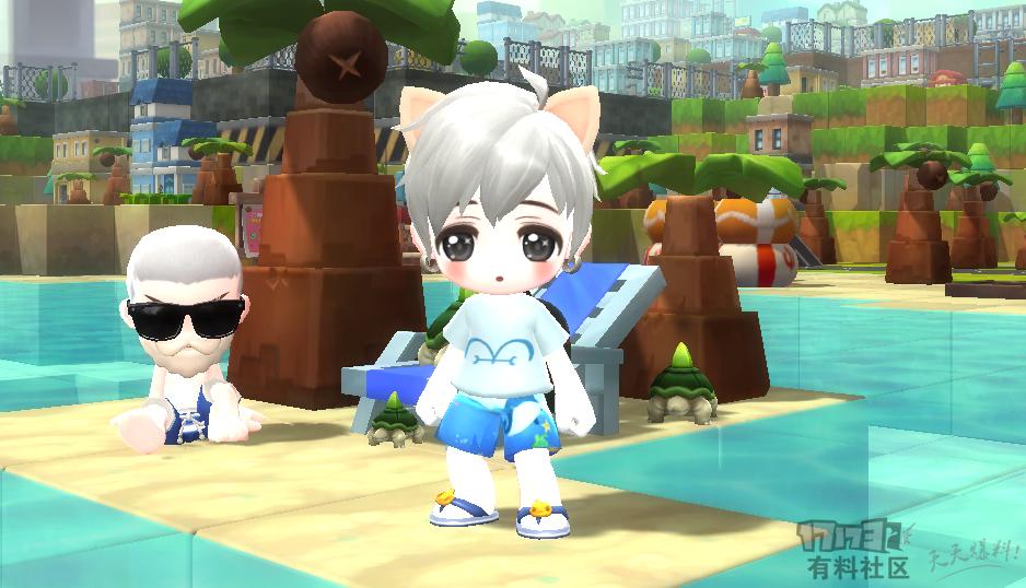 【鹿懵懵】夏日海滩短袖+裤子