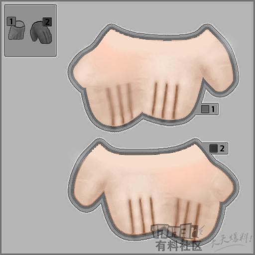 初次开贴,送3种肤色的DIY透明手套模板