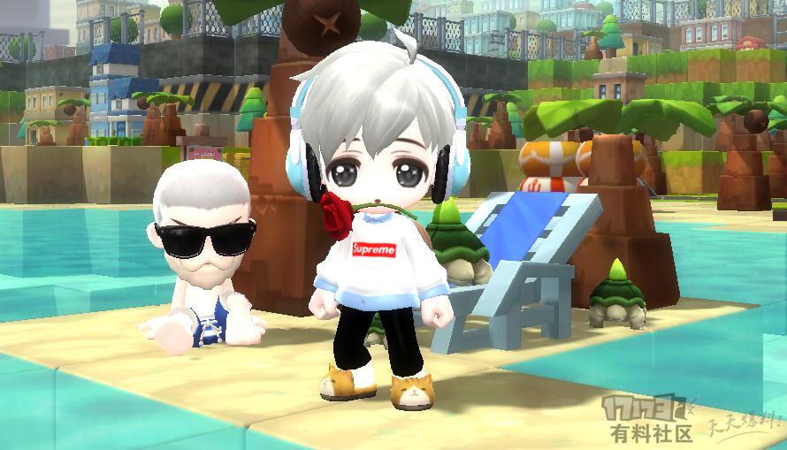 【鹿懵懵】supreme白色卫衣+衬衫