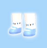 【分享图纸】蓝色桃心小鞋子、、留邮送无水印图纸