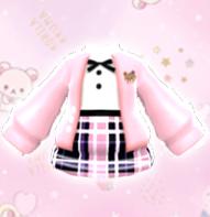 粉色熊熊毛衣+搭配鞋子、、留邮送无水印图纸